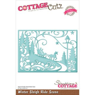 "CottageCutz Elites Die -Winter Sleigh Ride Scene 5""X3.575""