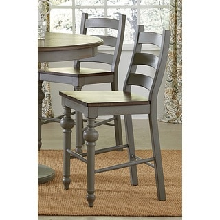 Progressive Colonnades Grey Faux-wood Ladder Counter Chair