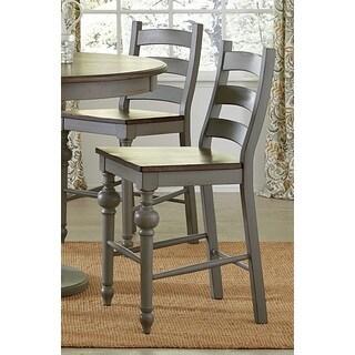 Progressive Colonnades Grey Faux-wood Ladder Counter Chair
