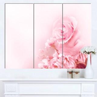 Designart 'Beautiful Rose In Magic Light' Portrait Canvas Wall Art Print