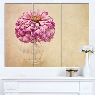 Designart 'Pink Flower in Vase Watercolor' Floral Canvas Artwork Print