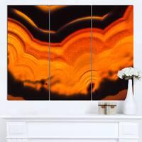 Designart 'Agate Macro Orange' Abstract Canvas Wall Art Print - Orange
