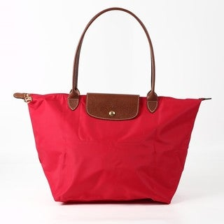 Longchamp Le Pliage Garance Red Nylon Large Foldable Tote Bag