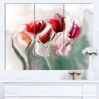 Designart 'Floral Watercolor Illustration' Large Animal Canvas Wall Art Print