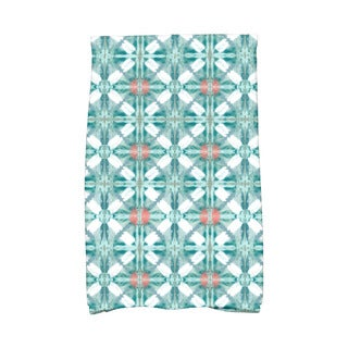 Beach Tile Geometric Print Hand Towel