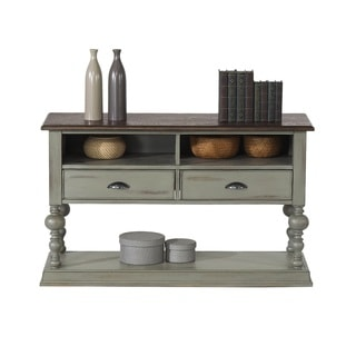 Progressive Colonnades Grey Wood Sofa and Console Table