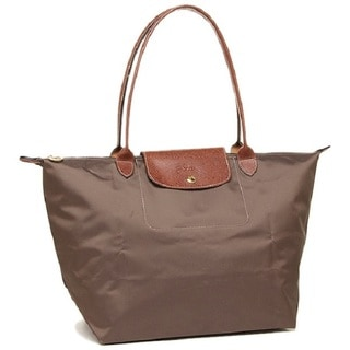 Longchamp Le Pliage Tierra Brown Nylon Large Foldable Tote Bag