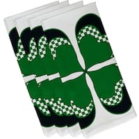 4 Leaf Clover, Holiday Floral Print Napkin (Set of 4) (19 x 19')