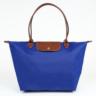 Longchamp Le Pliage Blue Large Foldable Tote Bag