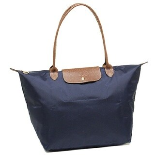 Longchamp Le Pliage Large Navy Nylon Foldable Tote Bag