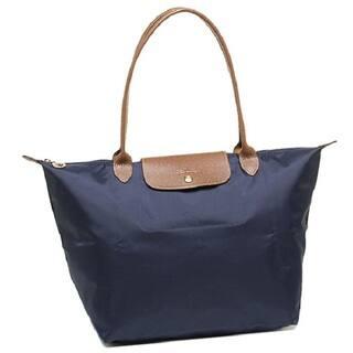 Longchamp Le Pliage Large Navy Nylon Foldable Tote Bag
