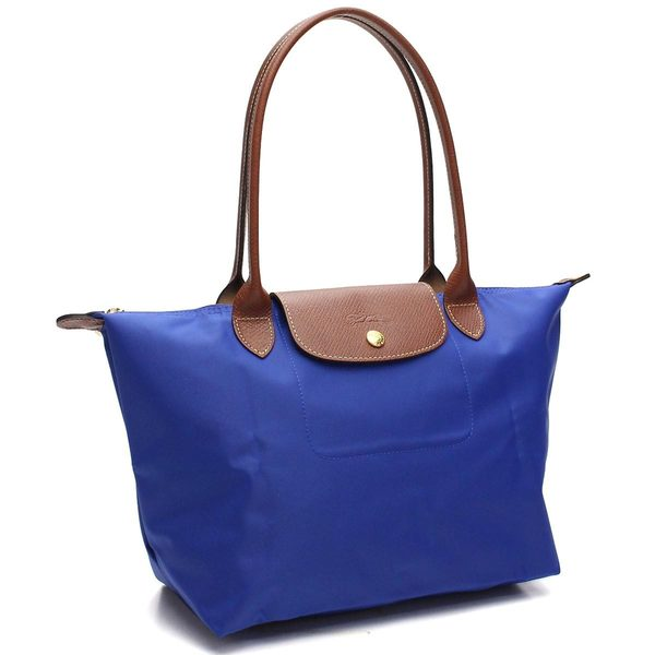 901f85b6a745 Shop Longchamp Le Pliage Blue Nylon Small Foldable Tote Bag - Free ...