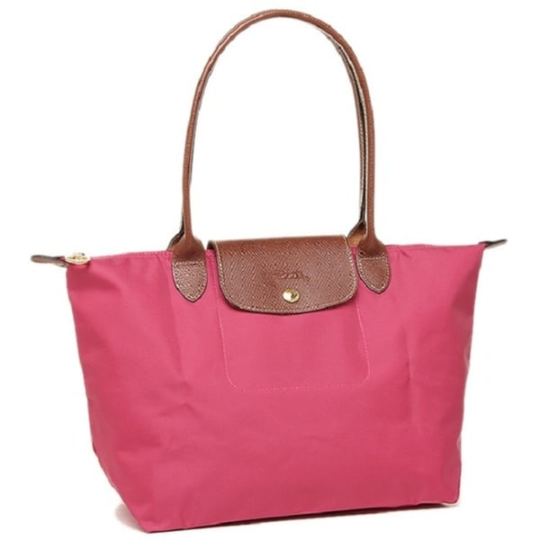 48d31f0e7799 Shop Longchamp Le Pliage Pink Small Foldable Tote Bag - Free ...