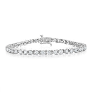 Noray Designs 14k White Gold IGI Certified 3ct TDW Diamond Tennis Bracelet (G-H, I1-I2)