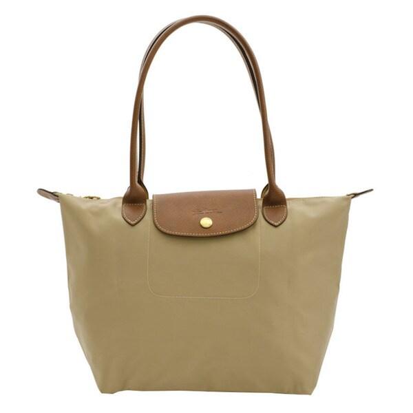 Longchamp Le Pliage Beige Nylon Small Foldable Tote Bag