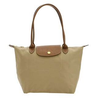 Longchamp Le Pliage Beige Nylon Small Foldable Tote Bag