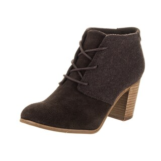 Toms Women's Lunata Brown Suede Lace-up Casual Shoe