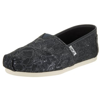 Toms Women's Grey Synthetic Leather Classic Casual Shoe