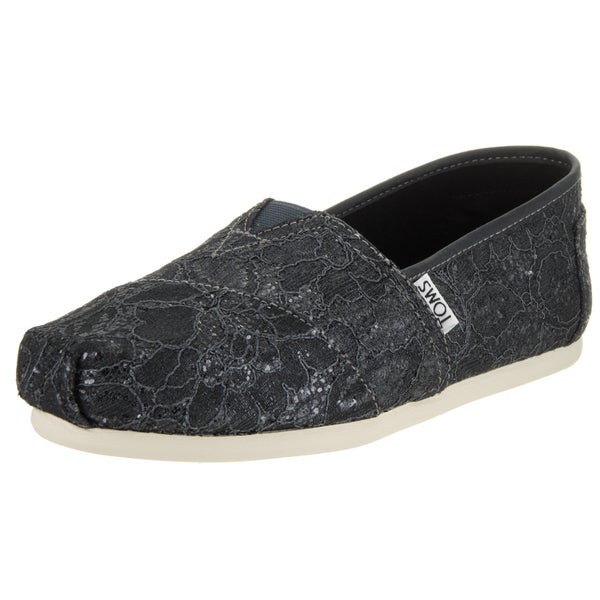 b503929f1 Shop Toms Women's Grey Synthetic Leather Classic Casual Shoe - Free ...