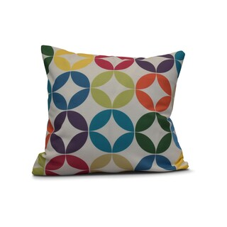 Eye Opener Geometric Print Outdoor Pillow