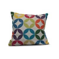 Eye Opener Geometric Print Outdoor Pillow