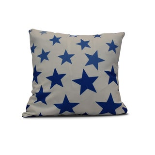 20-inch Just Stars Geometric Print Outdoor Pillow