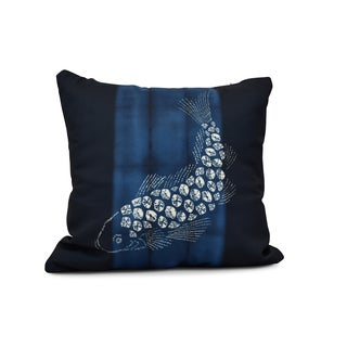 Fish Pool Animal Print Outdoor Pillow