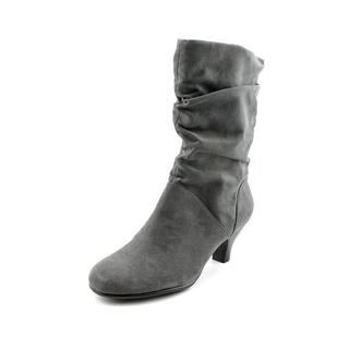 Aerosoles Women's Wise n Shine Grey Faux Suede Boots