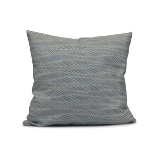 Rolling Waves, Geometric Print Outdoor Pillow (16 x 16')