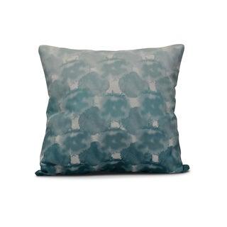 Beach Clouds, Geometric Print Pillow (16 x 16-inch)