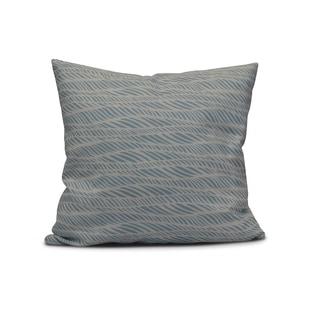 Rolling Waves Geometric Print Pillow