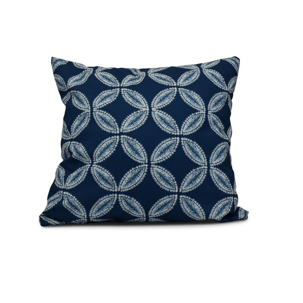 Tidepool Geometric Print Pillow