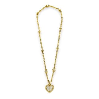Judith ripka jewelry shop our best jewelry watches deals online 18k yellow gold 1ct tdw diamond heart pendant and chain estate necklace h i si1 aloadofball Images