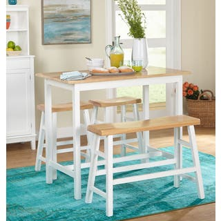 Simple Living 4-piece Galena Modern Farmhouse Counter Height Set