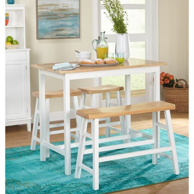 Simple Living Galena Farmhouse 4-piece Counter Height Dining Set