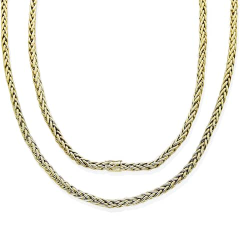18k Yellow Gold Foxtail Chain Estate Necklace