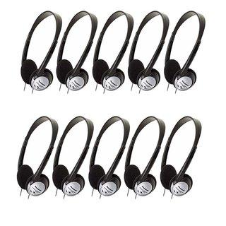Panasonic RP-HT21 Lightweight Headphones with XBS (10 PACK)