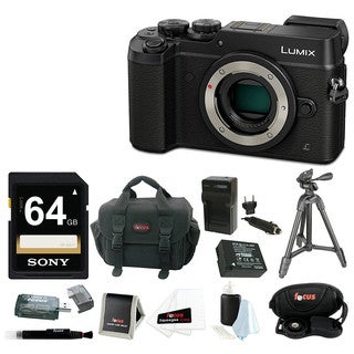 Panasonic DMC-GX8KBODY LUMIX GX8 (DSLM) Camera Body with Battery/Charger and 64GB SDXC Accessory Bundle