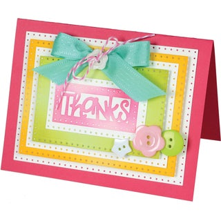 Sizzix Framelits Dies By Stephanie Barnard 9/Pkg-Rectangles Dotted