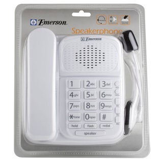 Emerson White Speakerphone with Headset