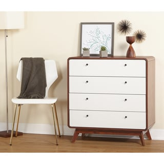 Simple Living Cassie Mid-Century 4-Drawer Chest