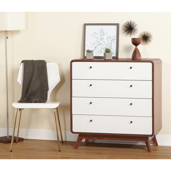 simple living cassie midcentury 4drawer chest