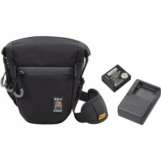 Panasonic Lumix Battery & Charger Pack w/ Ape Case ACPRO800 Holster Camera Bag