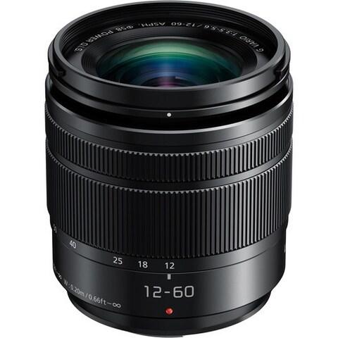 PANASONIC LUMIX G Vario Lens, 12-60mm, F3.5-5.6 ASPH., Mirrorless Micro Four Thirds, POWER Optical I.S., H-HS12060 (USA BLACK)