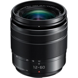PANASONIC LUMIX G Vario Lens, 12-60mm, F3.5-5.6 ASPH., Mirrorless Micro Four Thirds, POWER Optical I.S., H-HS12060 (USA BLACK)