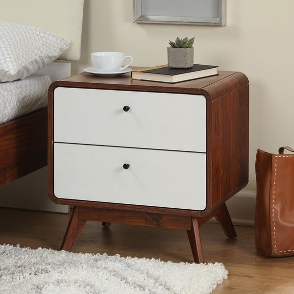 simple living cassie mid century night stand free shipping today 20217070. Black Bedroom Furniture Sets. Home Design Ideas