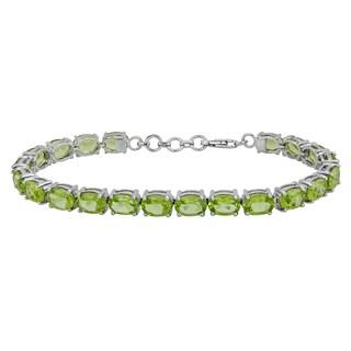Sterling Silver Peridot Tennis Bracelet