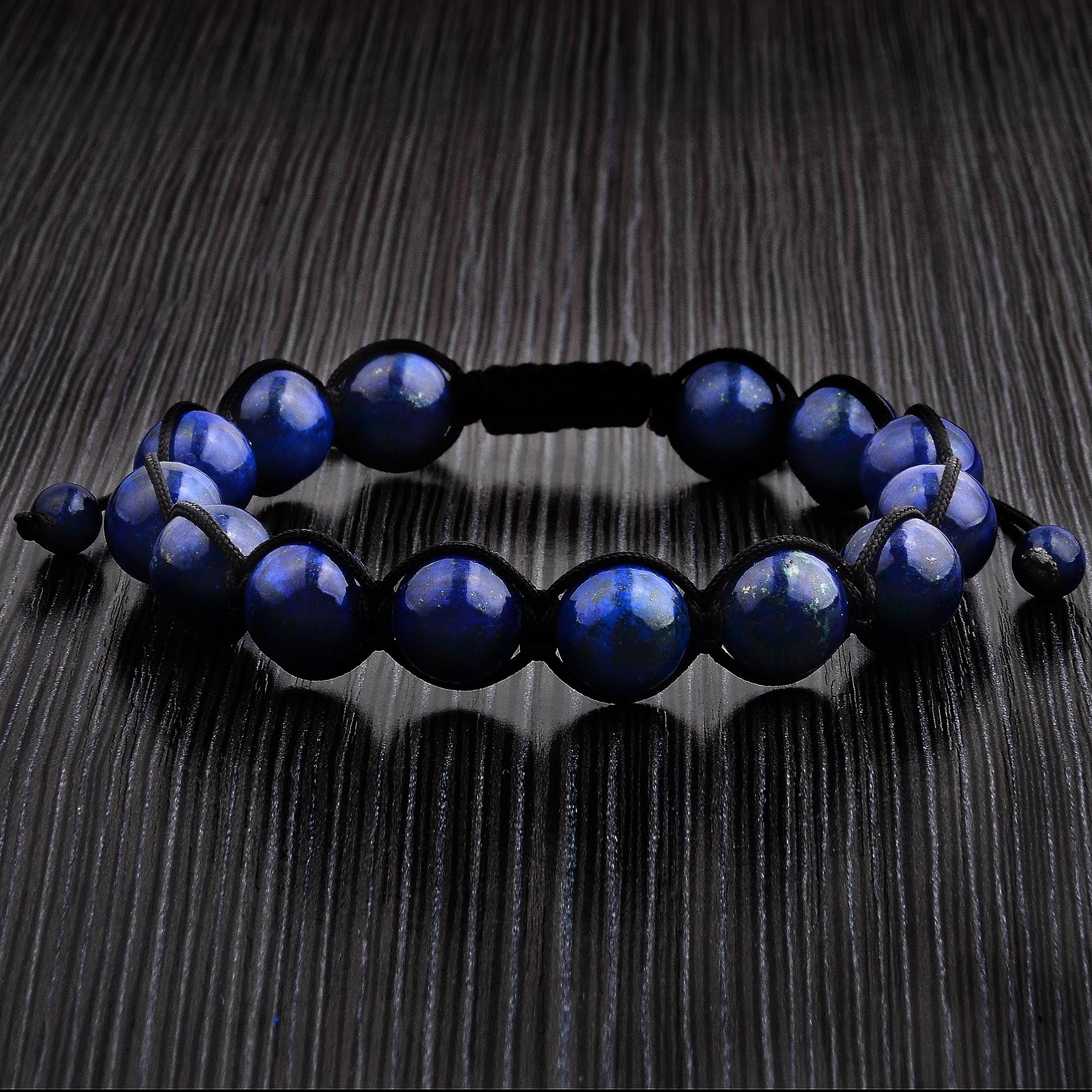 Lapis Lazuli Bracelet 10 mm Lazurite Bracelet Stretch Cord  Lazurite  Beaded Bracelet Natural Mineral Bracelet Gift For Her Blue Bracelet