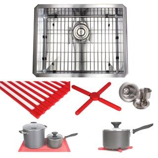 Ariel 23-inch Stainless Steel Single Bowl Undermount Kitchen Sink