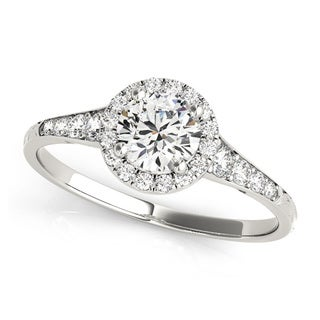 Transcendent Brilliance 14k Gold 3/4ct TDW Diamond Graduate Halo Engagement Ring (G-H, VS1-VS2)